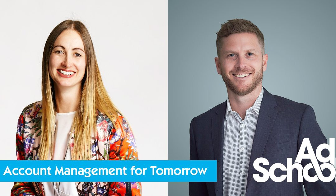 AdSchool Account Management for Tomorrow: meet your presenter series. Katie Dally (Sydney) and Simon Stewart (Perth)