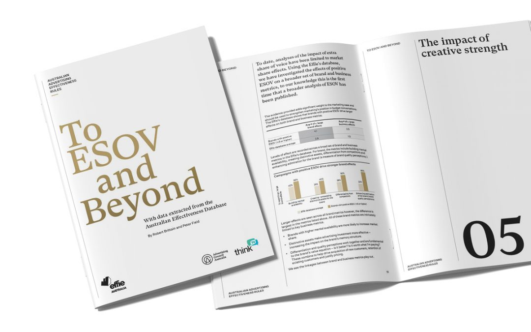 Advertising Council Australia releases new report: Australian Advertising Effectiveness Rules: To ESOV and Beyond