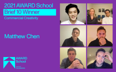 AWARD School announces winner of new commercial creativity challenge, Brief 10